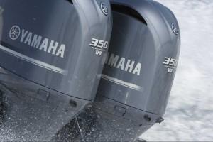 En eller flera Yamaha utombordare